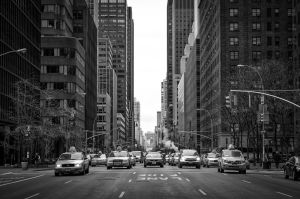 black and white new york city street photography