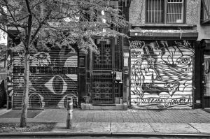 2black and white photographs of the Lower East Side